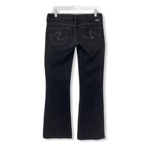 Silver Jeans Tuesday Bootcut Jeans Faded Black 28